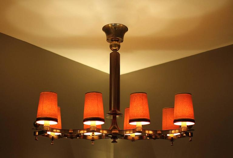 French Exceptional Chandelier by Maxime Old, 1946 For Sale