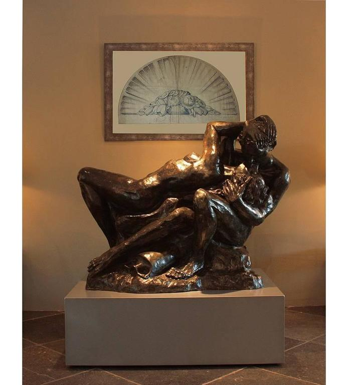 20th Century Romeo & Juliet Very Impressive Bronze Sculpture  For Sale