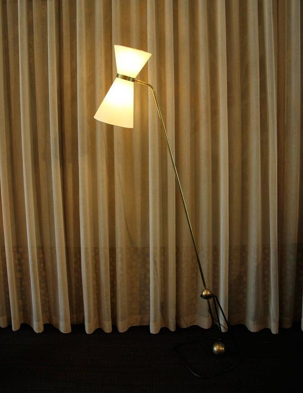 Rare Pair of Floor Lamps, Model of Pierre Guariche, 1970 2