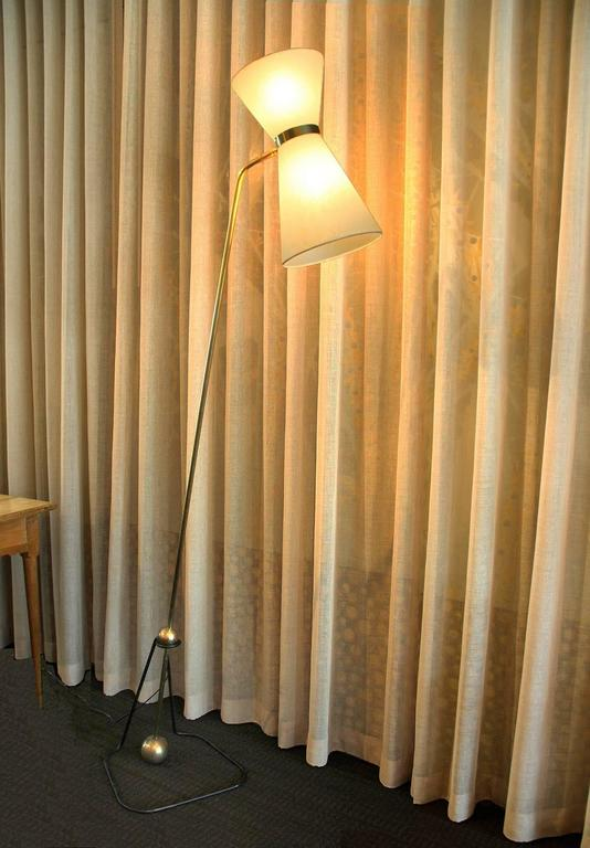Rare Pair of Floor Lamps, Model of Pierre Guariche, 1970 For Sale 1