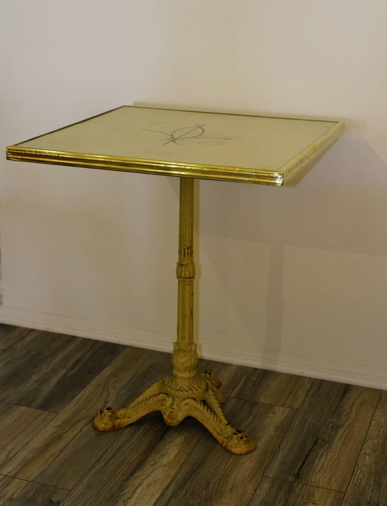 Pair of French Parisian Bistro Tables from Bristol Cafe 3