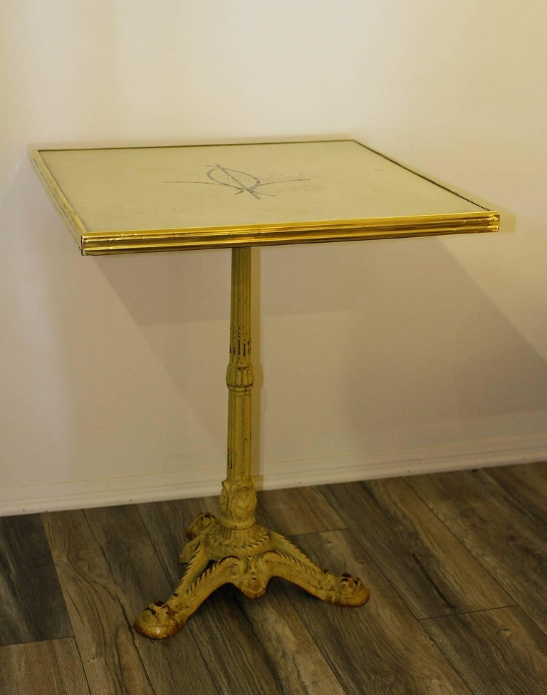 Pair of French Parisian Bistro Tables from Bristol Cafe 2