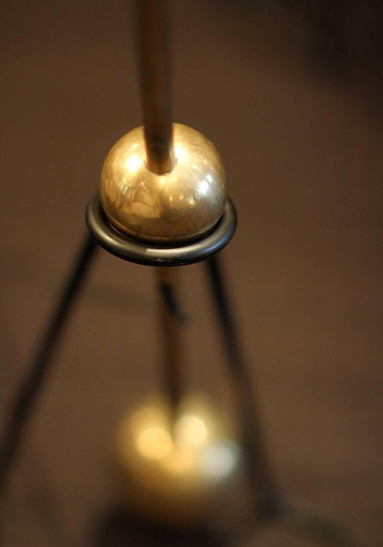 Late 20th Century Rare Pair of Floor Lamps, Model of Pierre Guariche, 1970 For Sale