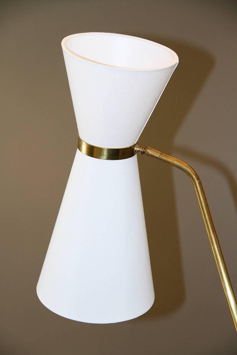 Metal Rare Pair of Floor Lamps, Model of Pierre Guariche, 1970 For Sale