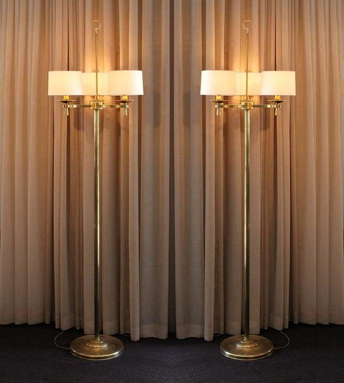 Prince de Galles, Paris, circa 1940, Art Deco floor lamps