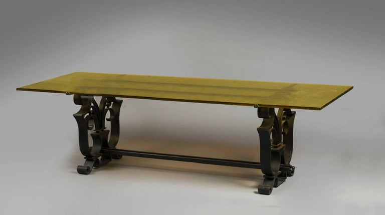 Art Deco Raymond Subes Dining Table France 1930 (Attributed to) For Sale