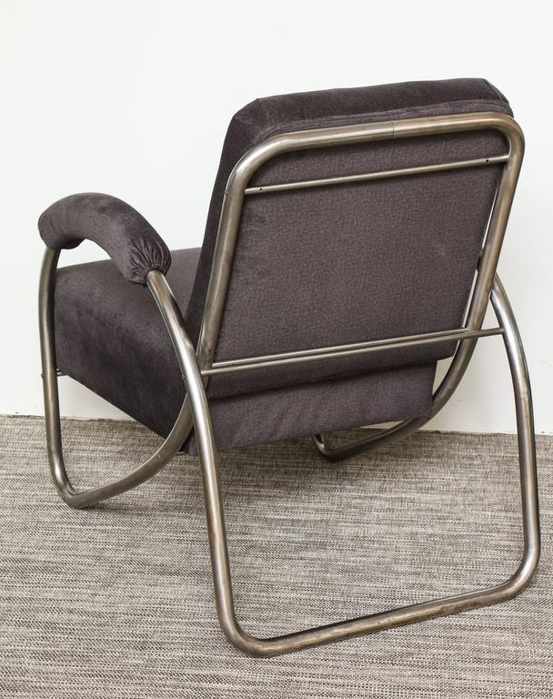 Mid-20th Century Anton Lorenz Thonet Tubular Steel Lounge Chairs and Ottoman For Sale
