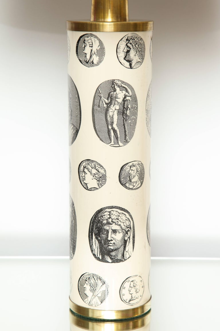 Mid-Century Modern Fornasetti 'Cameo' Lamps  For Sale