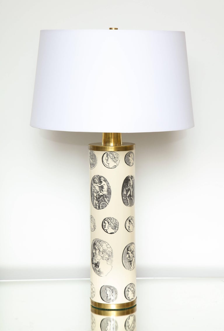 Italian Fornasetti 'Cameo' Lamps  For Sale
