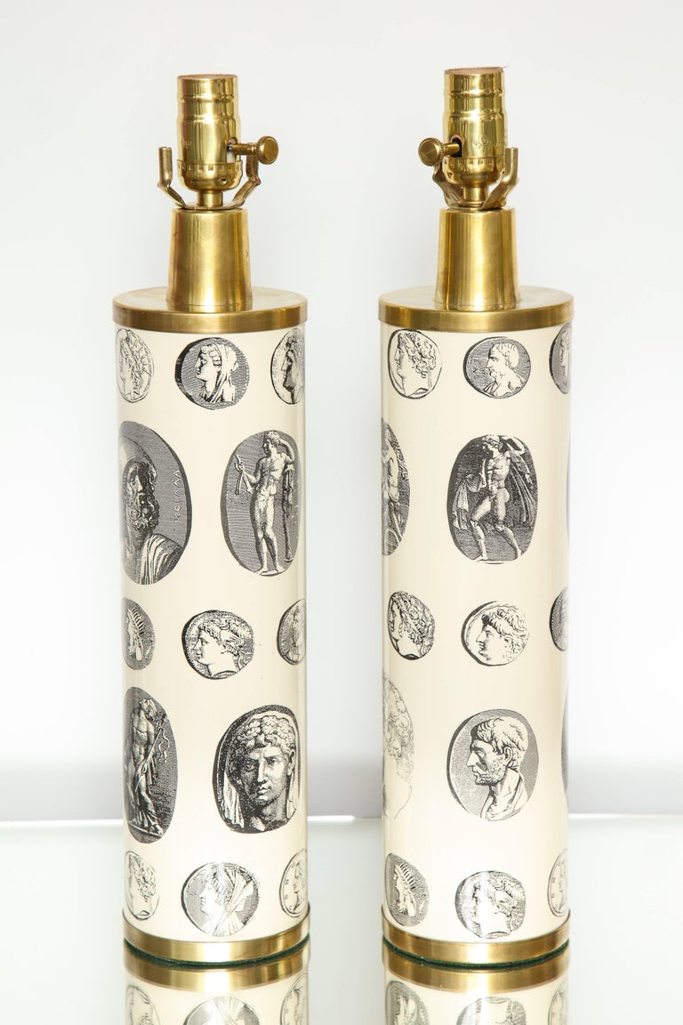 20th Century Fornasetti 'Cameo' Lamps  For Sale