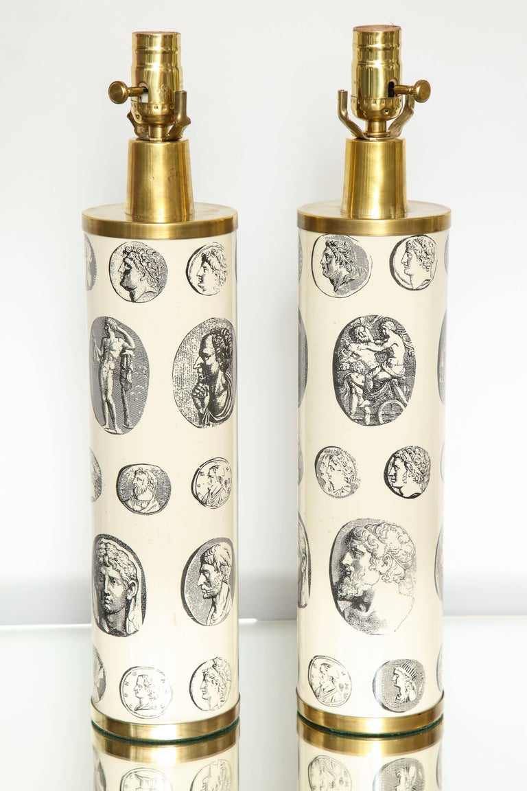 Fornasetti 'Cameo' Lamps  For Sale 1