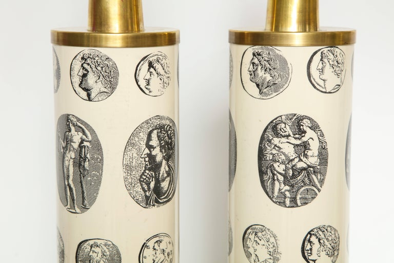 Fornasetti 'Cameo' Lamps  For Sale 2