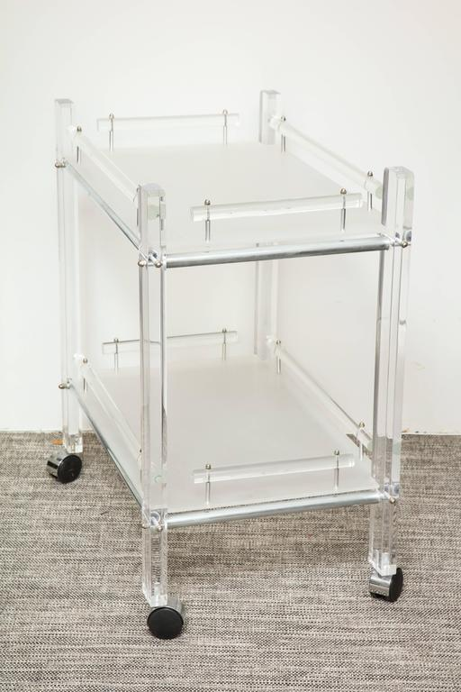 Two Tier Lucite Bar Cart For Sale At 1stdibs