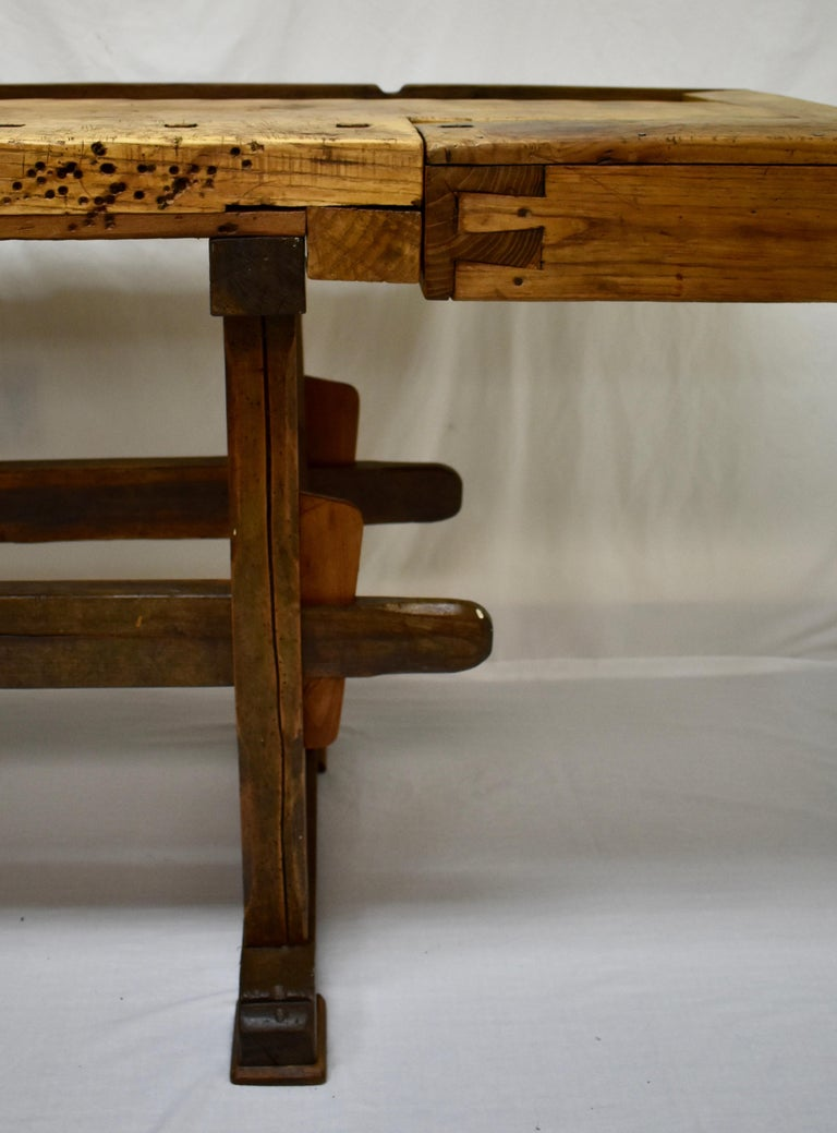 Oak Carpenter's and Joiner's Work Bench For Sale 1