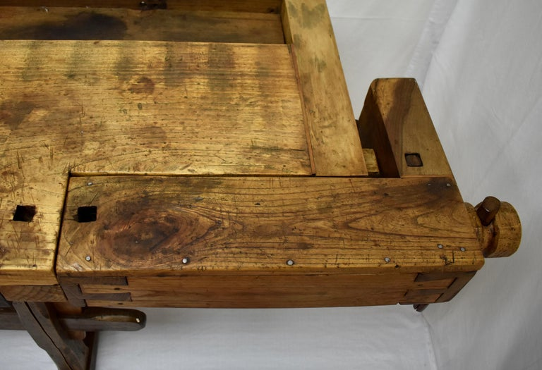 Oak Carpenter's and Joiner's Work Bench For Sale 5