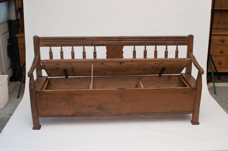 Pine And Oak Box Bench At 1stdibs