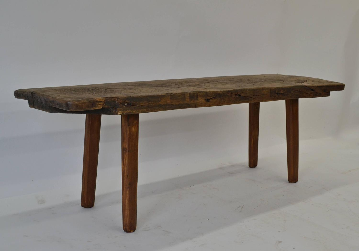 oak and pine butcher s block coffee table for sale at 1stdibs