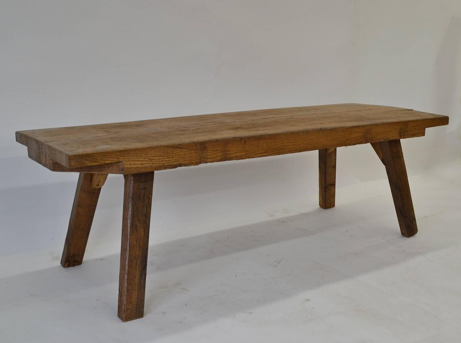 Oak Butcher 39 S Block Coffee Table At 1stdibs