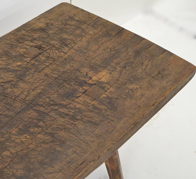 oak and pine butcher s block coffee table at 1stdibs