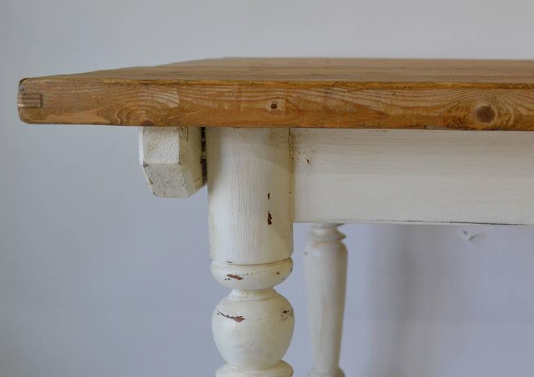 Vintage Pine and Hardwood Farmhouse Table 4