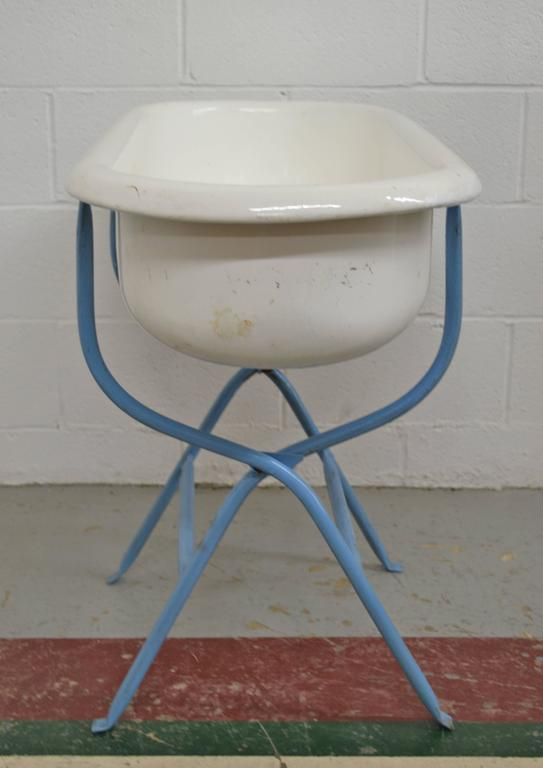 Vintage Porcelain Baby Bath At 1stdibs