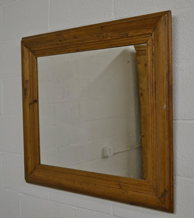 60867f77428d A beautifully naturally aged and polished pine picture frame fitted with  new mirror glass. Frame. Hungarian Antique Pine Mirror Frame For Sale