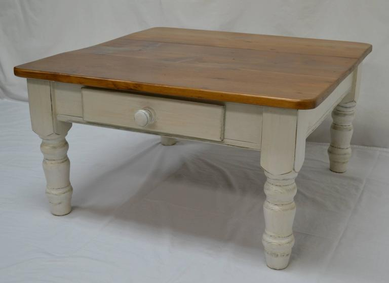 Pine Turned Leg Coffee Table For Sale At 1stdibs