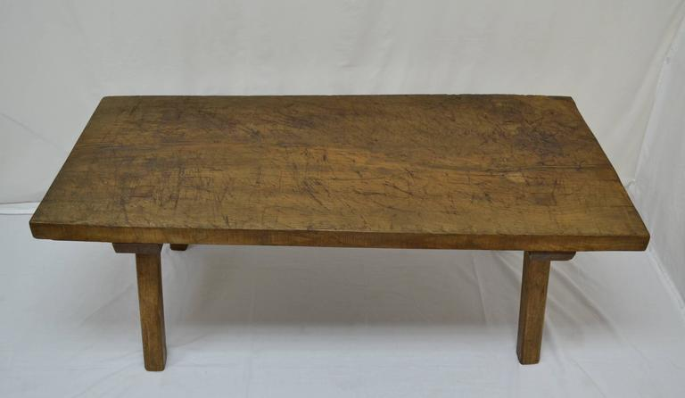 Oak Pig Bench Coffee Table At 1stdibs