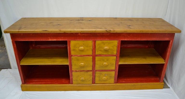 Vintage pine shop counter or kitchen island for sale at for Vintage kitchen island for sale