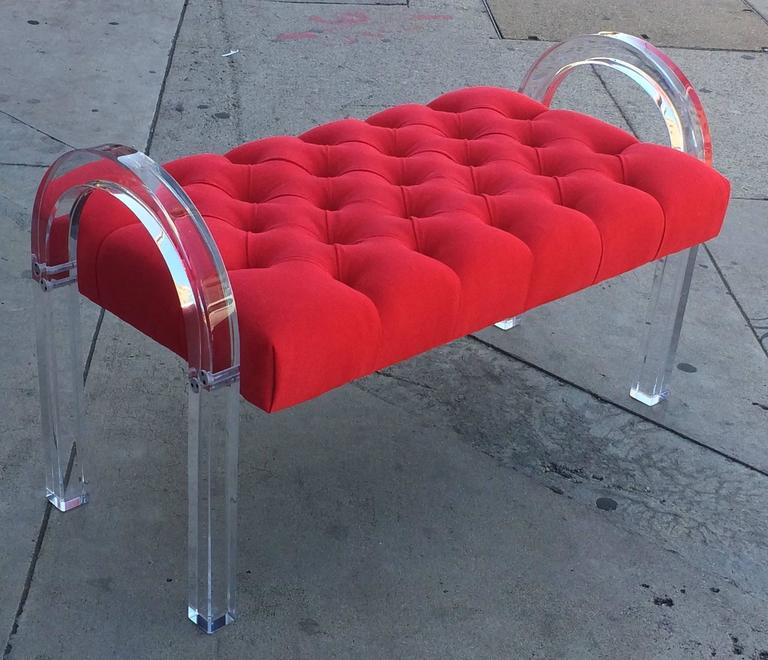 Fabric 1970s Charles Hollis Jones Bench from the