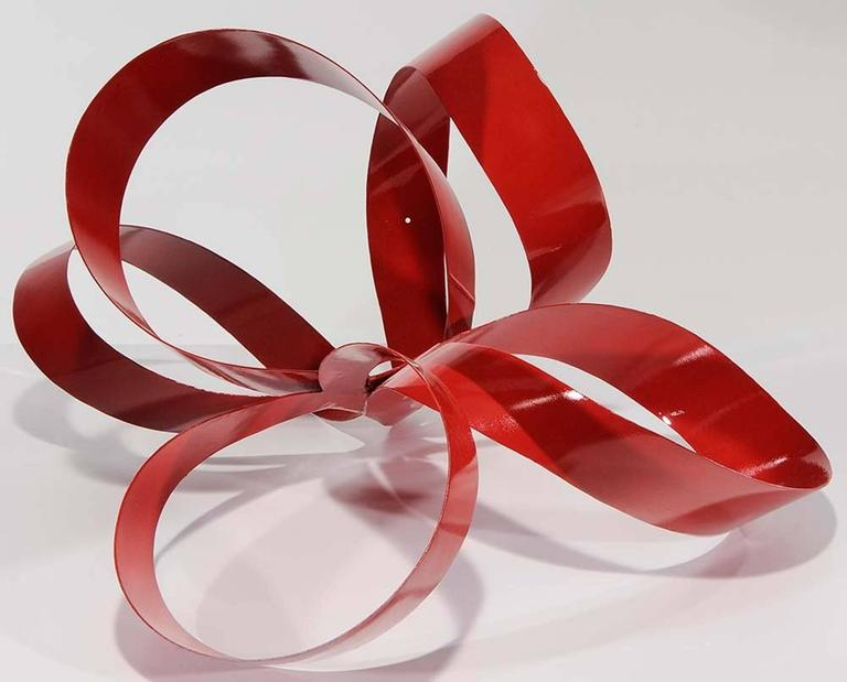 Wall Decorations With Ribbon : One of a kind red ribbon sculpture by paul chilkov for
