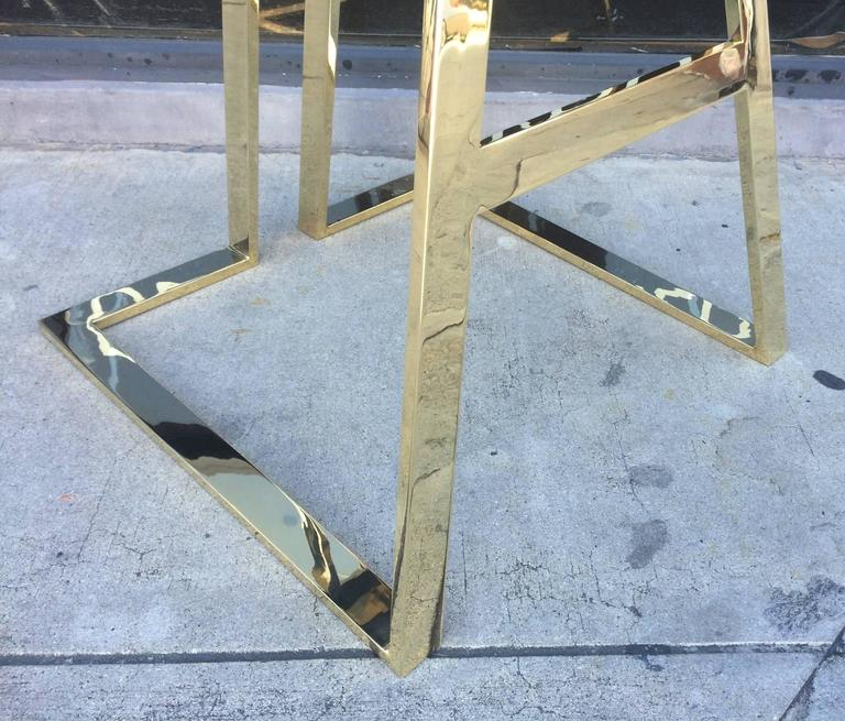 Set of Four Brass Barstools by Charles Hollis Jones For Sale 2