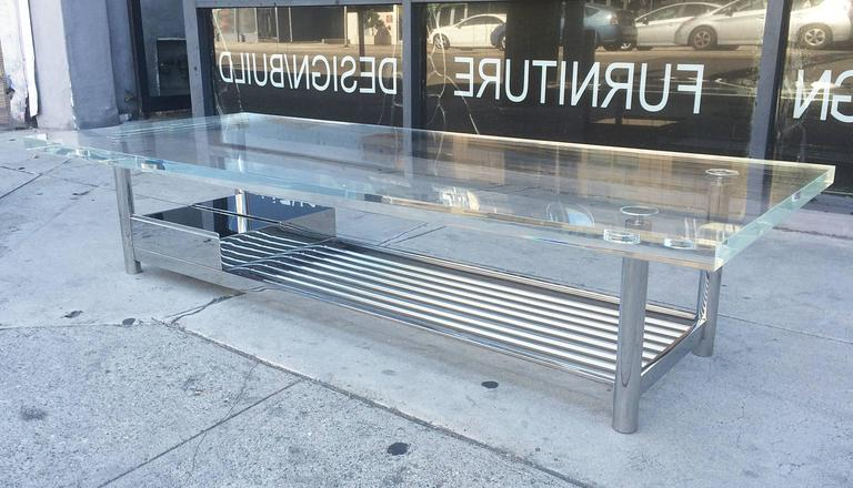 Limited Edition Marion Coffee Table In Stainless Steel And Lucite By J Blake For Sale At 1stdibs