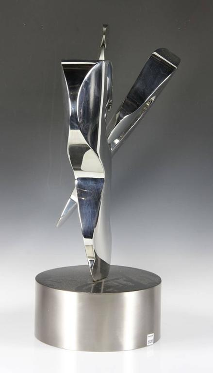 American Free-Form Stainless Steel Sculpture by Michael Oguns For Sale