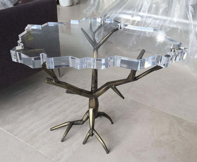 Modern One of a Kind Bronzed Side Table by Amparo Calderon Tapia For Sale
