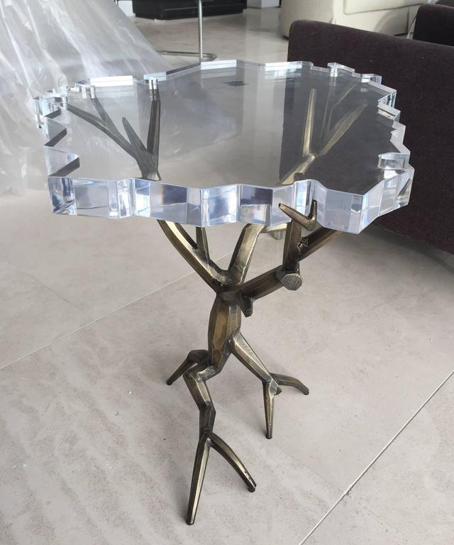American One of a Kind Bronzed Side Table by Amparo Calderon Tapia For Sale