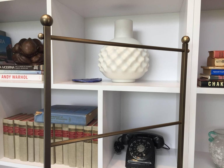 Lader Back Towel Rack in Solid Brass by Charles Hollis Jones for Lucille Ball In Good Condition For Sale In Los Angeles, CA