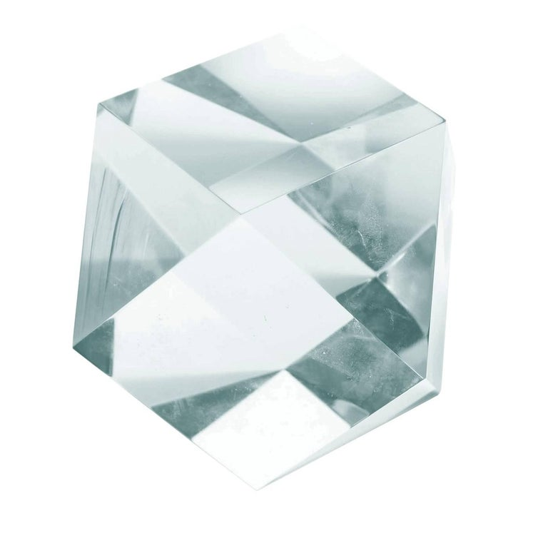 Large Faceted Lucite Sculpture by Amparo Calderon Tapia In Good Condition In Los Angeles, CA