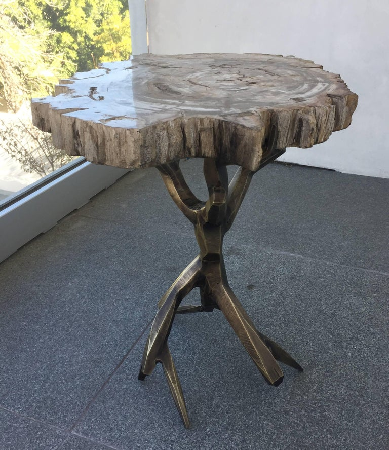 One of a Kind Bronzed Side Table by Amparo Calderon Tapia For Sale 3