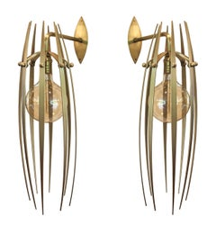 """Garras"" Wall Sconces in Solid Brass by Amparo Calderon Tapia"