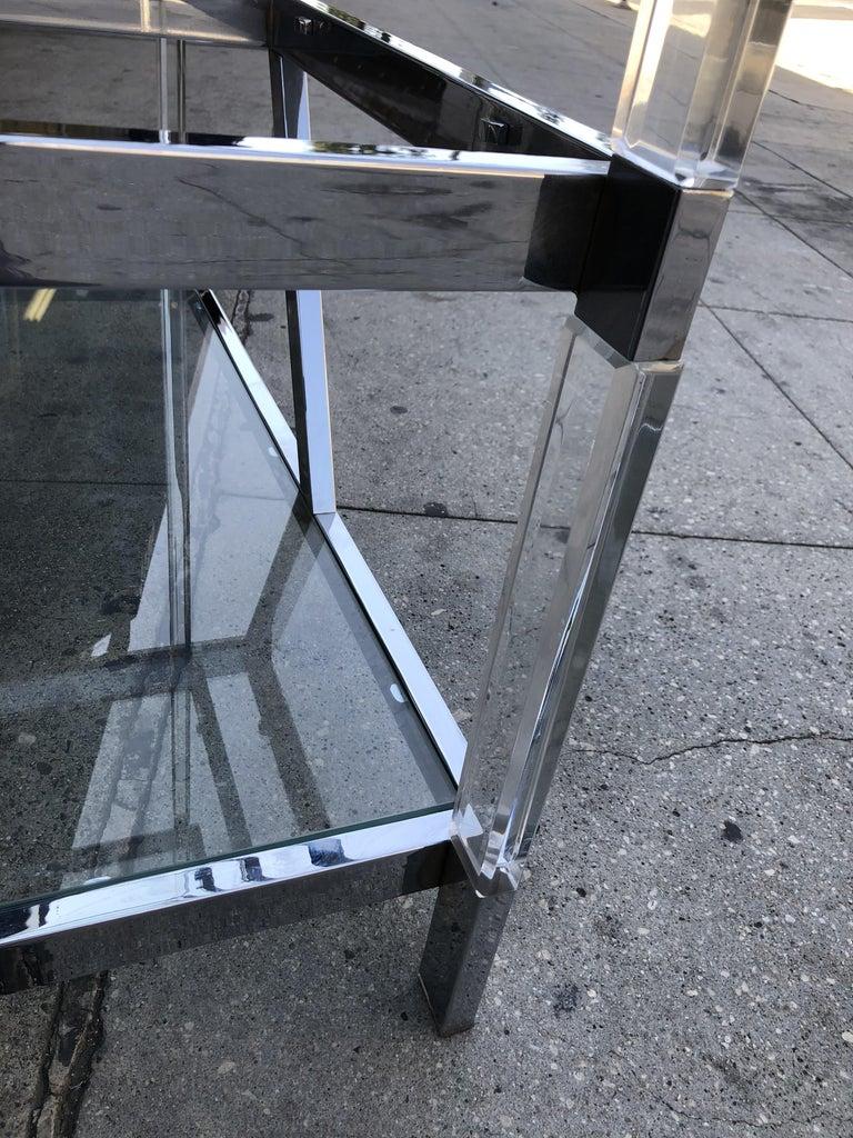 Custom Lucite and Chrome Étagère by Charles Hollis Jones For Sale 8