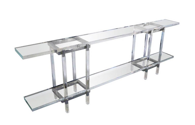 We have one table in brass and one in nickel ready to ship.