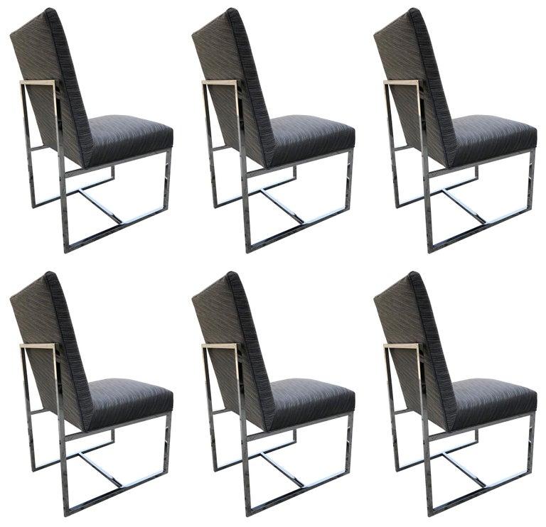 Set of 6 Milo Baughman Chrome Chairs for Thayer Coggin