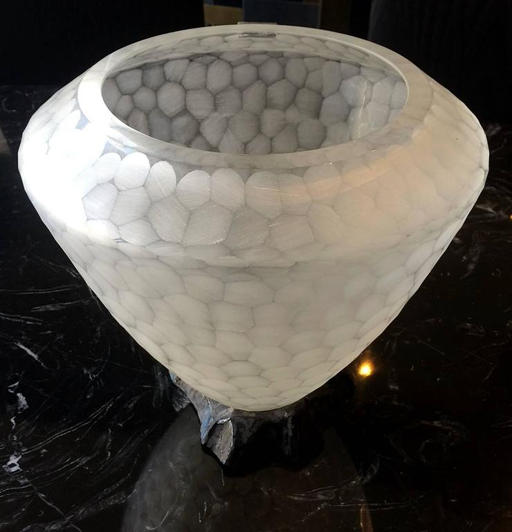 Stunning Murano Glass Vase by Archimede Seguso In Good Condition For Sale In Los Angeles, CA