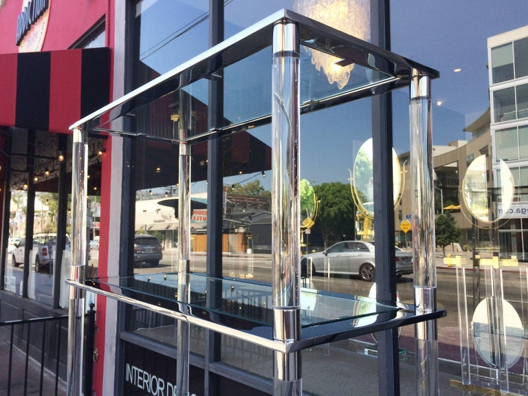 Lucite & Stainless Steel Etagere By Amparo Calderon Tapia For Sale 1