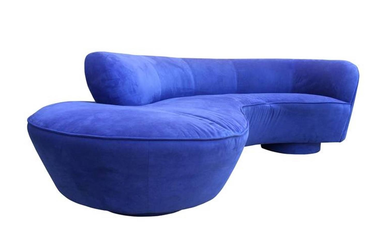 Vladimir Kagan Serpentine Sofa For Directional For Sale At