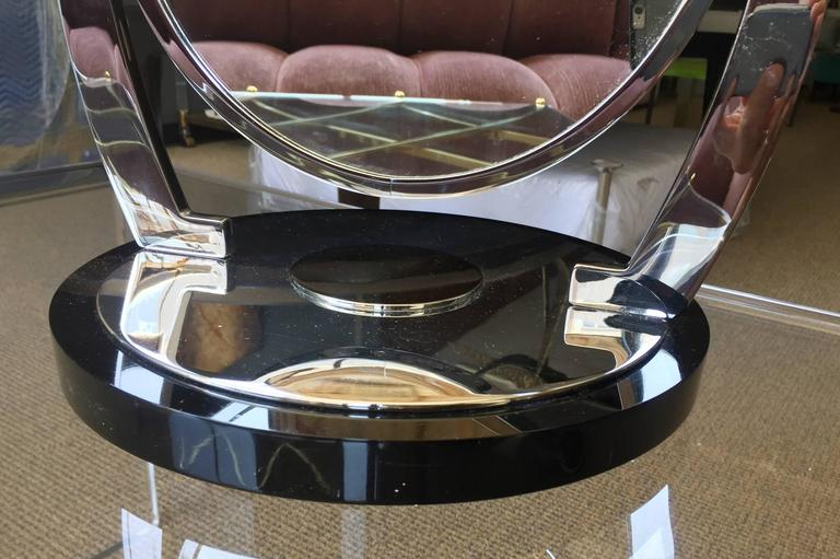Mid-20th Century Deco Style Vanity/Makeup Mirror with Magnifying Side by Charles Hollis Jones For Sale