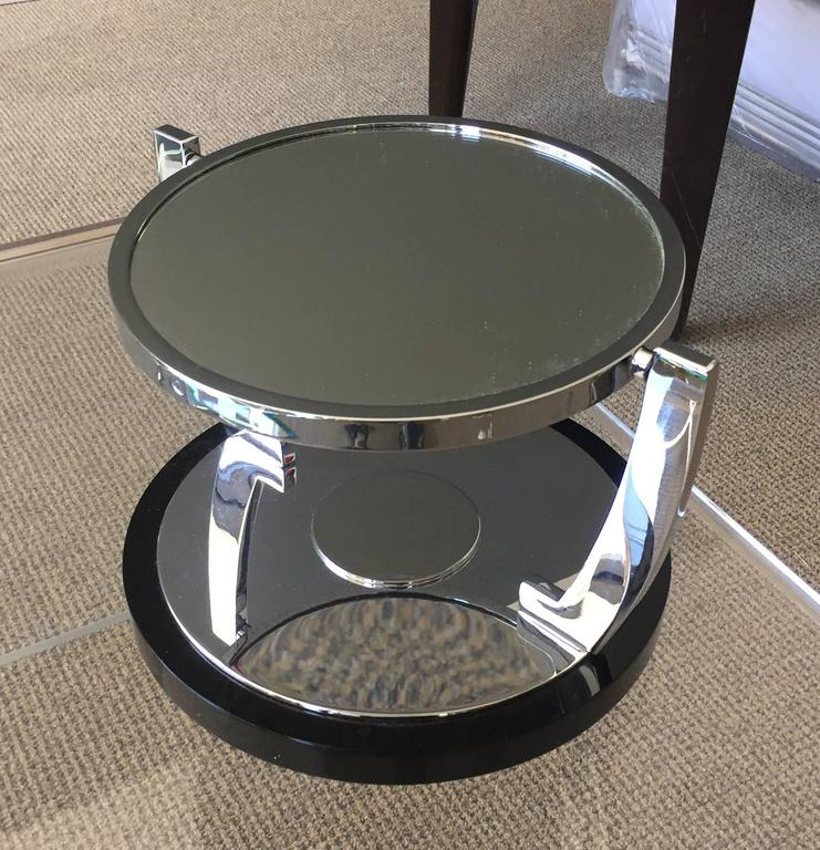 Deco Style Vanity/Makeup Mirror with Magnifying Side by Charles Hollis Jones In Good Condition For Sale In Los Angeles, CA