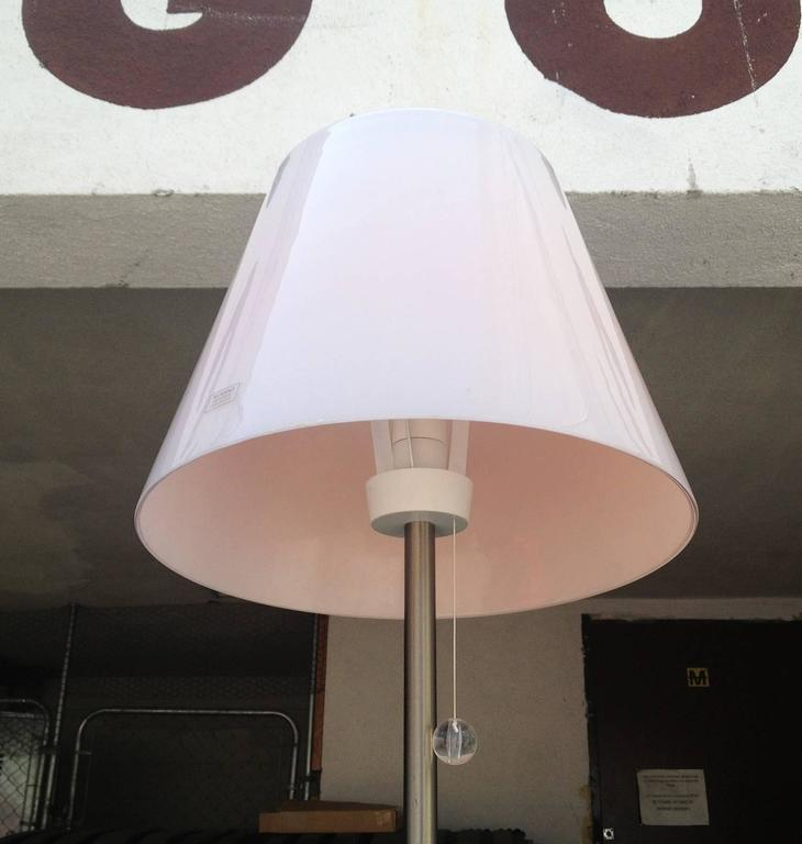 Italian floor lamp with a pink murano glass shade for sale for Floor lamp with pink shade
