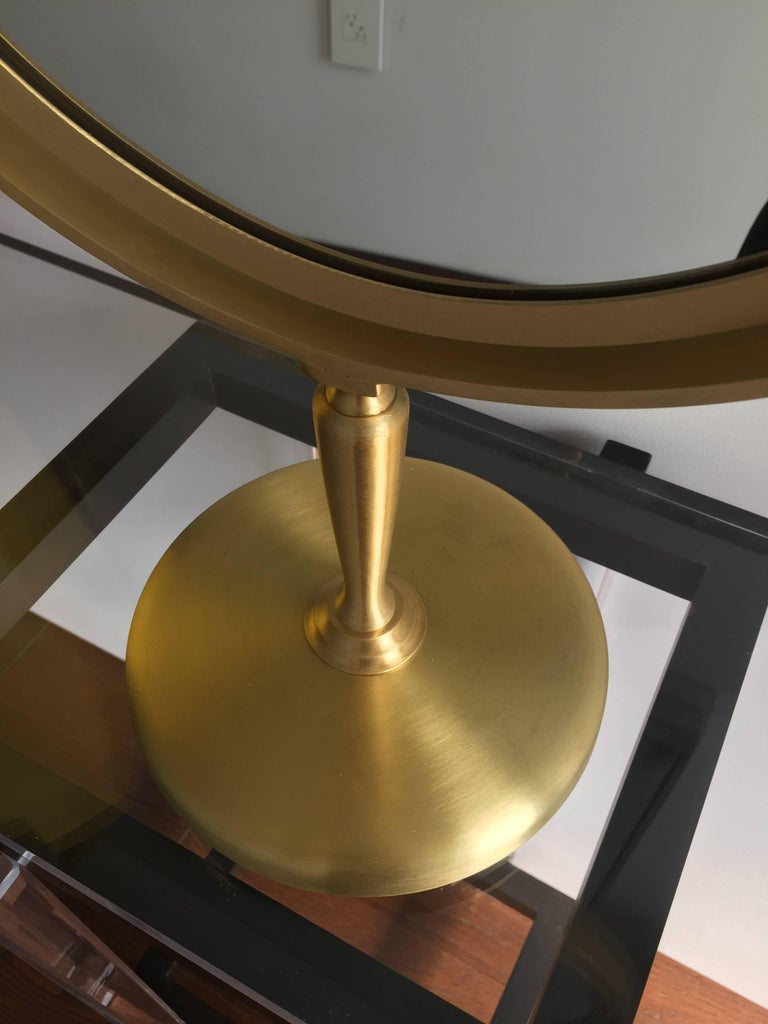 20th Century Large Brass Vanity Mirror by Charles Hollis Jones For Sale